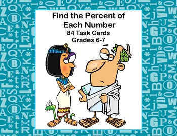 Find the Percent of  Each Number and Round to the Nearest Tenth-Grades 6-7