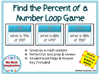 Find the Percent of a Number Loop Game