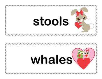 Find the Plurals-Grade 2-Write the Room Activity- CCSS-Valentine's Day