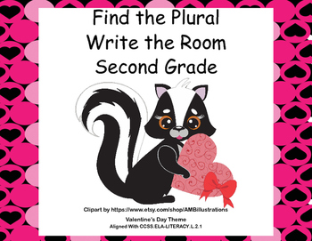 Find the Plurals-Grade 2-Write the Room Activity- CCSS-Val