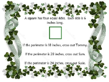 Find the Pot of Gold Perimeter Activity
