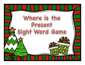 Find the Present Sight Word Game