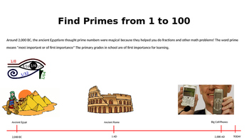 Find the Prime Numbers from 1 to 100