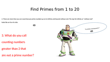 Find the Prime Numbers from 1 to 20