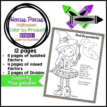 Hocus Pocus Color by Product {Halloween}