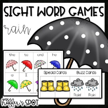 Find the Rain Cloud {Differentiated Sight Word Game}