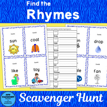 Find the Rhyme Scavenger Hunt