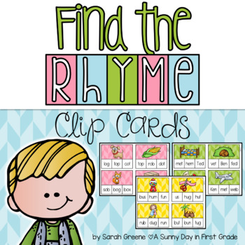 Find the Rhyme Clip Cards