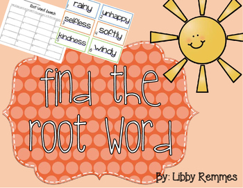 Find the Root Word Scoot Activity