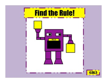 Find the Rule Worksheets