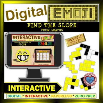 Find the SLOPE from Graphs - EMOJI Google Interactive