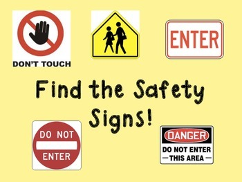 Find the Safety Signs Activity Book - Community Based Instruction Lesson