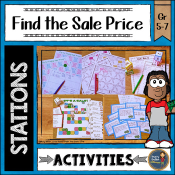 Find the Sale Prices Math Stations