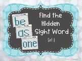 Find the Hidden Sight Words Set 1