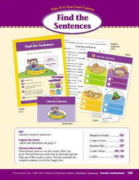 Find the Sentences (Take It to Your Seat Centers)