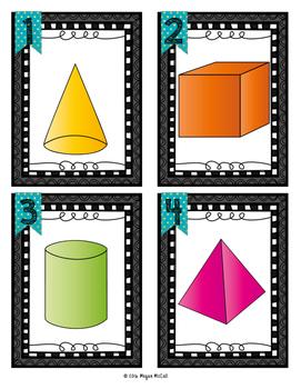 Find the Shape: A 3D Shape Hunt (Color & Blackline Shapes)