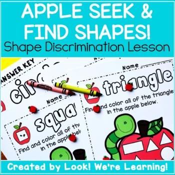 Find the Shape Worksheets - Apple Seek and Find!