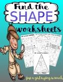 Shape HUNTERS: Find the shape WORKSHEETS
