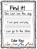 Find the Sight Word