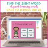 Find the Sight Word Back to School Fry's Third 25 {Boom Cards}