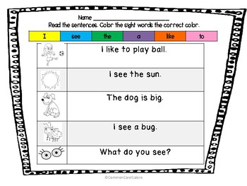 Find the Sight Words- RF.K.3c