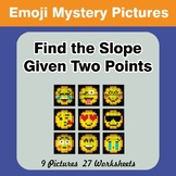 Find the Slope Given Two Points - Emoji Mystery Pictures /