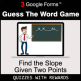 Find the Slope Given Two Points | Guess The Word Game | Go