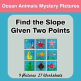 Find the Slope Given Two Points - Math Mystery Pictures -