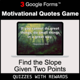 Find the Slope Given Two Points | Motivational Quotes Game
