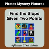 Find the Slope Given Two Points - Pirates Mystery Pictures