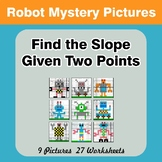Find the Slope Given Two Points - Robots Math Mystery Pict