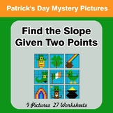 Find the Slope Given Two Points - St. Patrick's Day Color