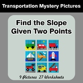 Find the Slope Given Two Points - Transportation Math Myst