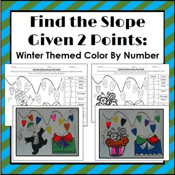 Find the Slope Given Two Points: Winter Themed Coloring Activity