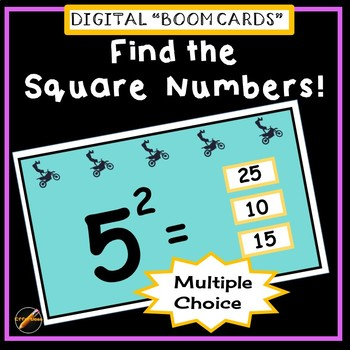 Find the Square Number: Multiple Choice BOOM CARDS