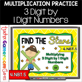 Find the Star - Multiplying 3 Digit by 1 Digit Numbers Pow