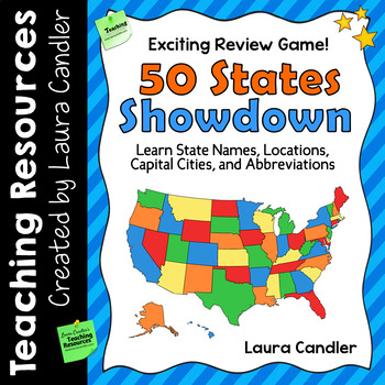 States and Capitals Activity: Game for Reviewing States, Capitals, and Locations