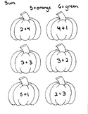 Color by Sum Pumpkins Numbers 5 and 6