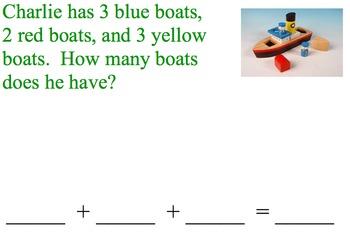 Find the Sum of Three Addends