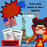 Handwriting Games: Find the Superhero hidden in America, G