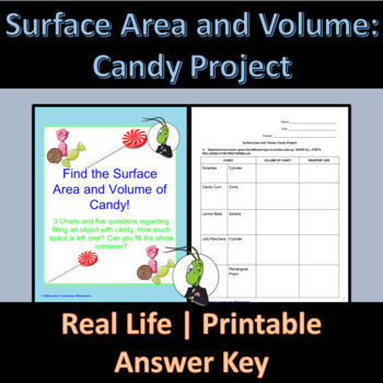 Find the Surface Area and Volume of Candy!