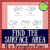Find the Surface Area of a Triangular Prism