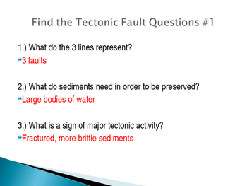 Find the Tectonic Fault