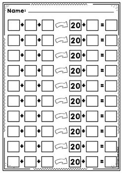 Find the Twenty - Bridging to 20 Addition Activity Cards