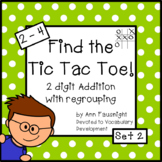 Tic Tac Toe 2 digit addition with regrouping Set 2