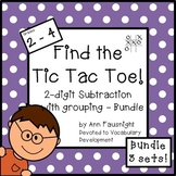 Find the Tic Tac Toe! 2-digit subtraction with regrouping Bundle 3 Sets
