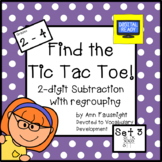 Find the Tic Tac Toe! 2-digit subtraction with regrouping Set 3