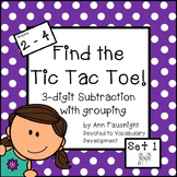 Tic Tac Toe 3-digit subtraction with regrouping Set 1