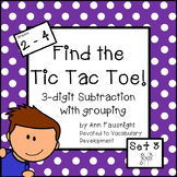 Find the Tic Tac Toe! 3-digit subtraction with regrouping Set 3
