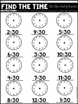 Find the Time: to the Half Hour